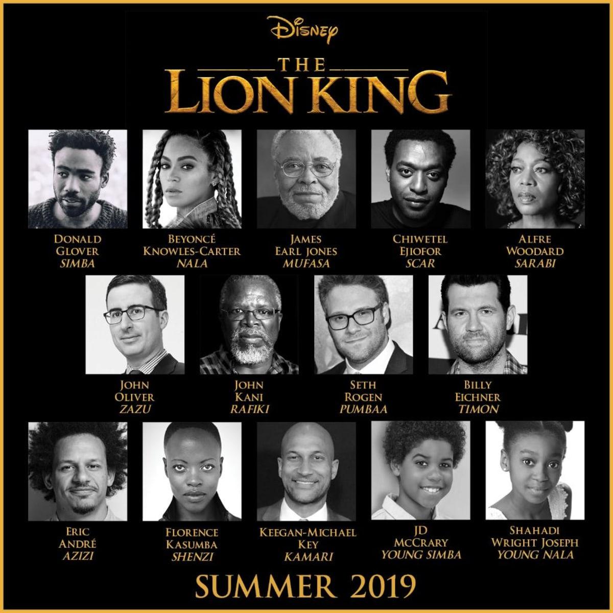lion king movie cast